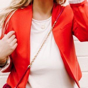 Red coral blazer